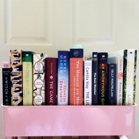 Book tag: Shelfie by Shelfie #7; the TBR Cart Shelfie! #shelfiebyshelfie #tarheelreader
