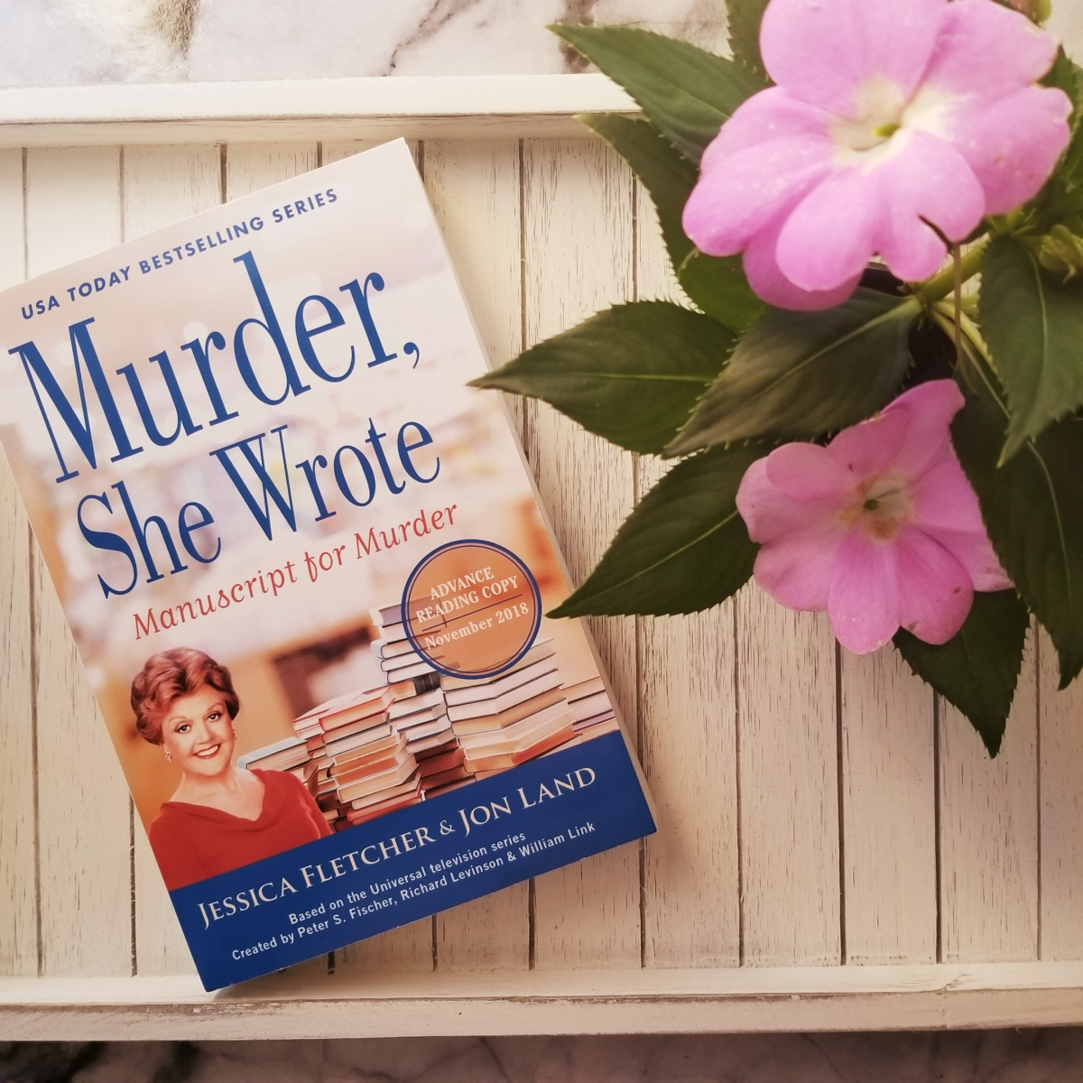 Murder, She Wrote: Manuscript for Murder by Jessica Fletcher and Jon Land #bookreview #tarheelreader #thrmanuscript @jondland @berkleypub #manuscriptformurder #6bookbestiesmurdershewrote #6bookbestieapproved