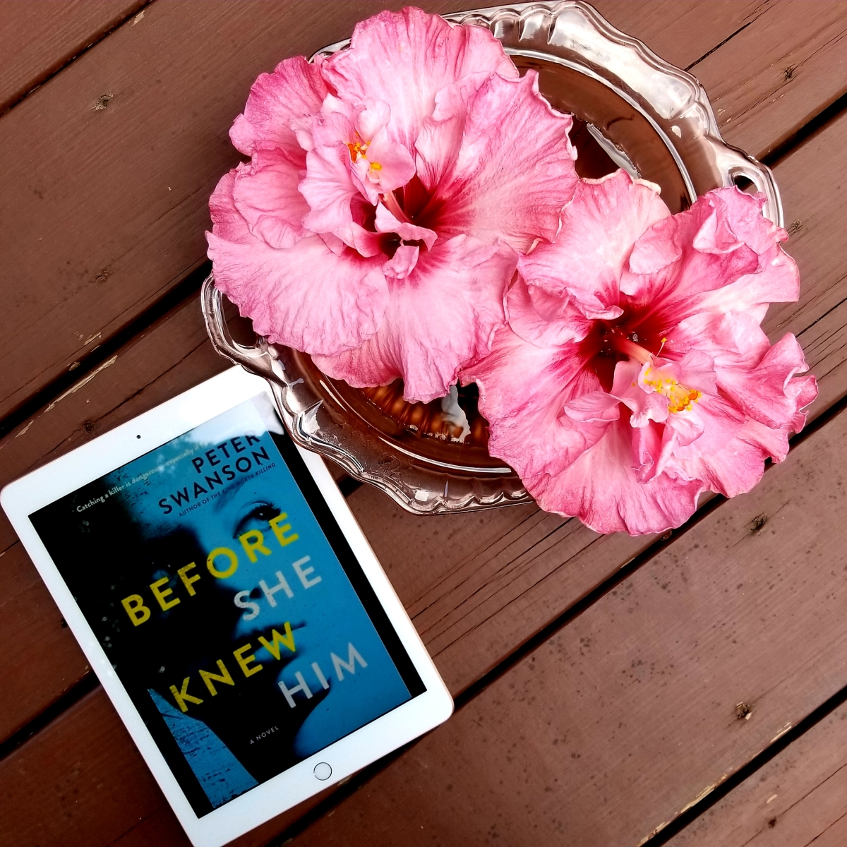 Before She Knew Him by Peter Swanson #bookreview #tarheelreader #thrbeforesheknew @peterswanson3 @wmmorrowbooks #beforesheknewhim