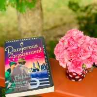 A Dangerous Engagement by Ashley Weaver #bookreview #tarheelreader #thradangerousengagement @ashleycweaver @stmartinspress @minotaurbooks #adangerousengagement